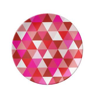 Modelo geométrico de PixDezines Platos De Cerámica