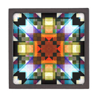 Modelo geométrico de textura cajas de regalo de calidad