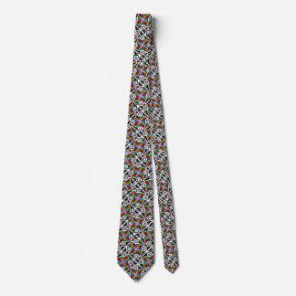 Modelo geométrico del arco iris abstracto corbata personalizada
