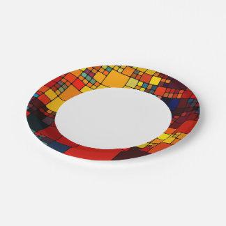 Modelo geométrico del arco iris vibrante abstracto