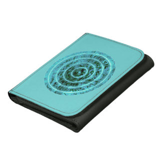 Modelo geométrico del círculo azul elegante del ©