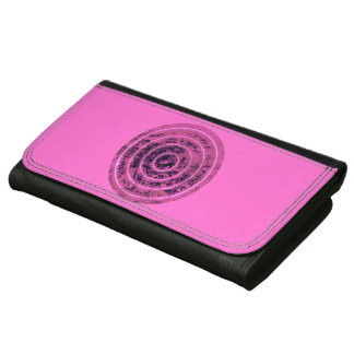 Modelo geométrico del círculo rosado elegante del