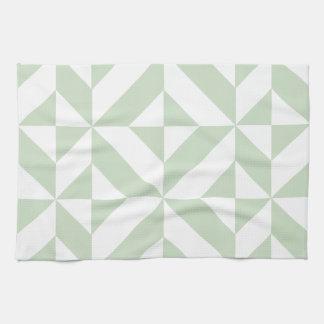 Modelo geométrico del cubo de Deco de la verde Toalla De Cocina