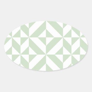 Modelo geométrico del cubo de Deco de la verde Calcomanía De Oval