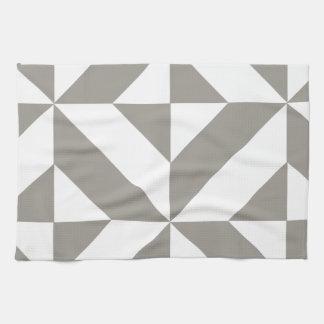 Modelo geométrico del cubo de Deco de los gris Toalla De Cocina