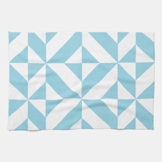 Modelo geométrico del cubo de Deco del azul de Toallas De Mano