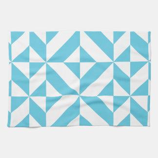 Modelo geométrico del cubo de Deco del azul de Toalla De Mano
