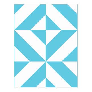 Modelo geométrico del cubo de Deco del azul de Postales