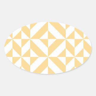 Modelo geométrico del cubo de Deco del melón Calcomanías Ovaladas