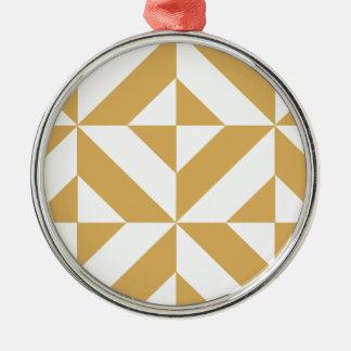 Modelo geométrico del cubo de Deco del oro fresco Ornatos