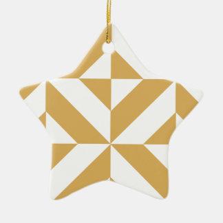 Modelo geométrico del cubo de Deco del oro fresco Ornaments Para Arbol De Navidad