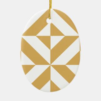 Modelo geométrico del cubo de Deco del oro fresco Adorno