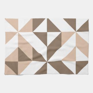 Modelo geométrico del cubo de Deco del remiendo de Toalla De Cocina