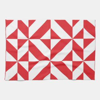 Modelo geométrico del cubo de Deco del rojo cereza Toallas