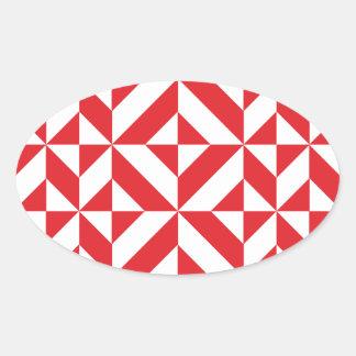 Modelo geométrico del cubo de Deco del rojo cereza Colcomanias Ovaladas Personalizadas