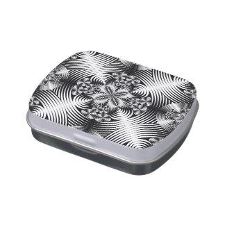 Modelo geométrico del damasco latas de caramelos