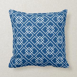 Modelo geométrico del diamante blanco de los azule almohadas