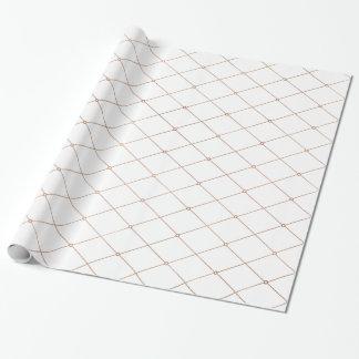 Modelo geométrico del diamante del oro color de papel de regalo
