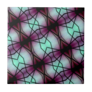 Modelo geométrico del espacio futurista azulejo