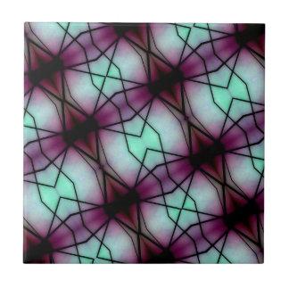 Modelo geométrico del espacio futurista azulejo cuadrado pequeño