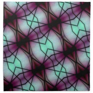 Modelo geométrico del espacio futurista servilleta imprimida