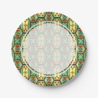 Modelo geométrico del este plato de papel de 7 pulgadas