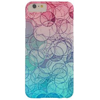 Modelo geométrico del extracto rosado azul del funda de iPhone 6 plus barely there