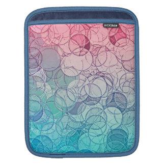 Modelo geométrico del extracto rosado azul del mangas de iPad