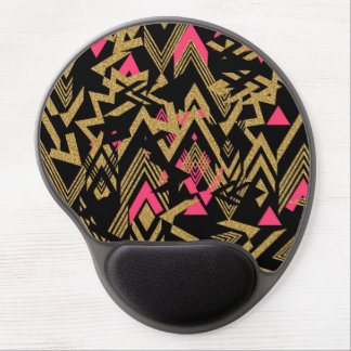Modelo geométrico del falso brillo de moda fresco alfombrilla gel