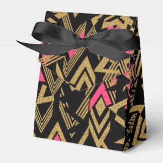 Modelo geométrico del falso brillo de moda fresco caja para regalos