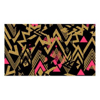 Modelo geométrico del falso brillo de moda fresco plantilla de tarjeta de negocio