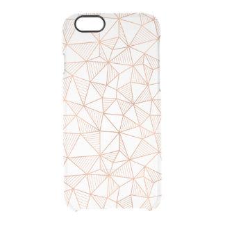 Modelo geométrico del falso oro color de rosa funda clearly™ deflector para iPhone 6 de uncommon