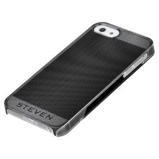 Modelo geométrico del falso puré metálico gris funda clear para iPhone SE/5/5s