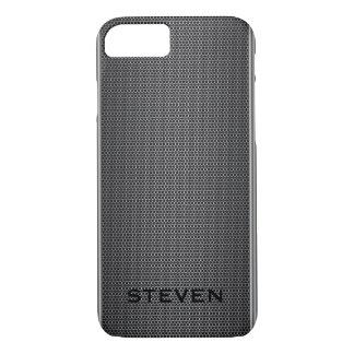 Modelo geométrico del falso puré metálico gris funda iPhone 7