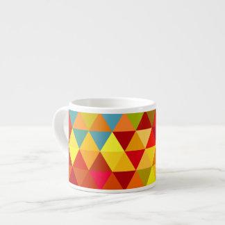 Modelo geométrico del fractal del triángulo de la taza espresso