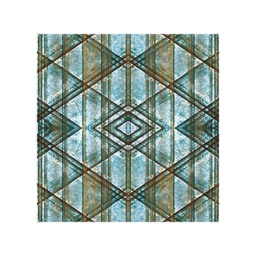 Modelo geométrico del Grunge Impresión En Lienzo Estirada