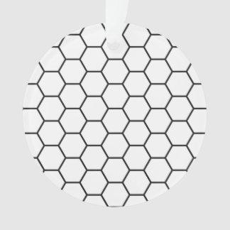 Modelo geométrico del hexágono blanco y negro