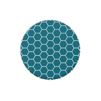Modelo geométrico del hexágono de la turquesa de m jarrones de dulces