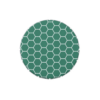 Modelo geométrico del hexágono del panal de Forest Latas De Dulces