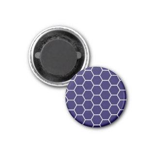 Modelo geométrico del hexágono del panal de los az imán redondo 3 cm