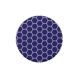 Modelo geométrico del hexágono del panal de los az jarrones de dulces