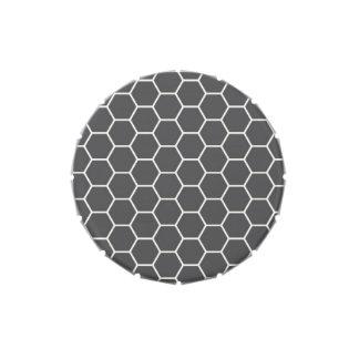 Modelo geométrico del hexágono del panal de los gr jarrones de caramelos
