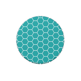 Modelo geométrico del hexágono del panal del trull jarrones de caramelos