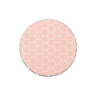 Modelo geométrico del hexágono del panal rosa clar jarrones de caramelos
