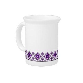 Modelo geométrico del huésped - púrpura - jarra