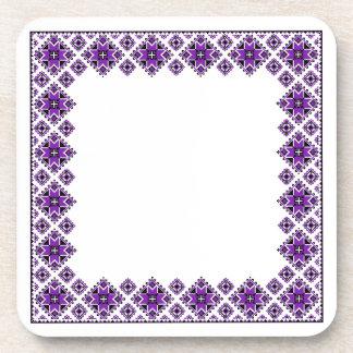 Modelo geométrico del huésped - púrpura - práctico posavasos de bebidas