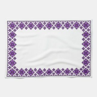 Modelo geométrico del huésped - púrpura - toalla
