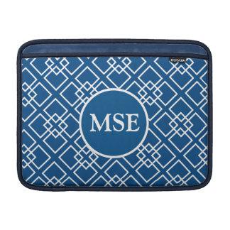 Modelo geométrico del monograma de los azules funda  MacBook