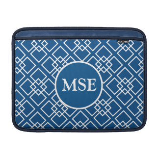 Modelo geométrico del monograma de los azules mari funda  MacBook
