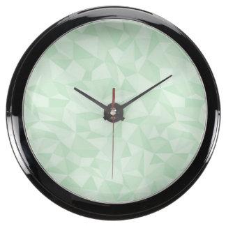 Modelo geométrico del mosaico de Abstrac de la ver Reloj Pecera